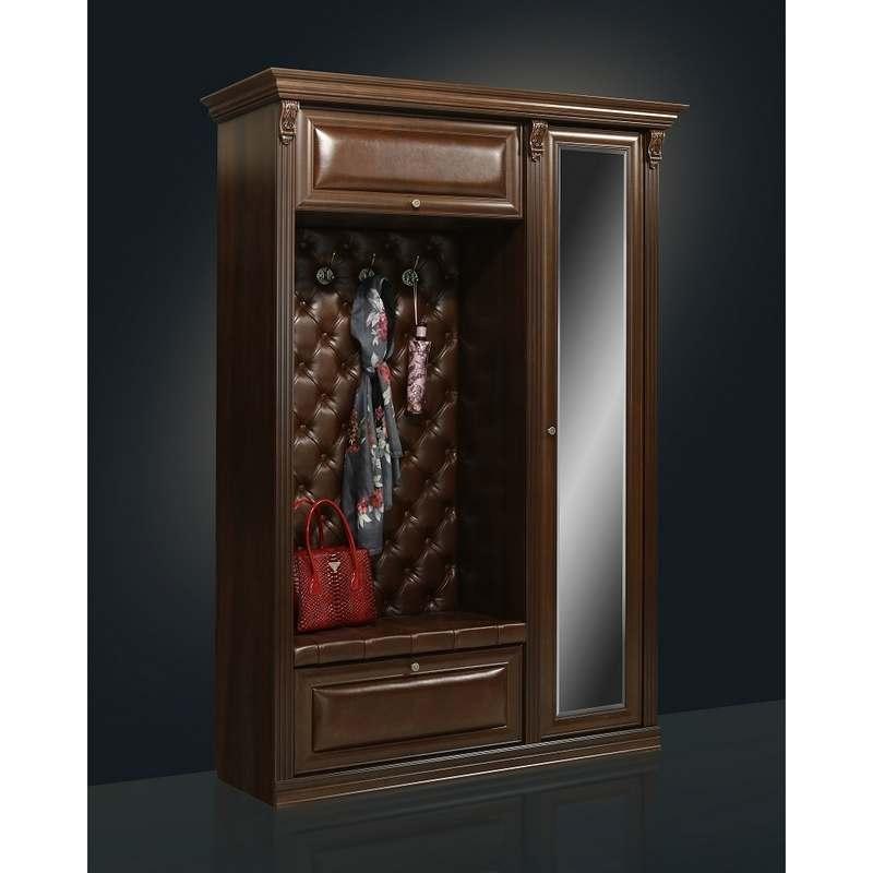 Прихожая благо-5 с зеркалом б5.1(з) орех - арива мебель екат.